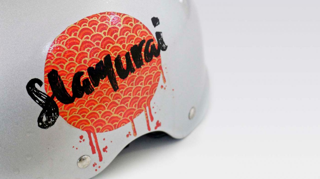 Custom helmet decals